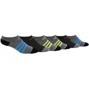 Image of Adidas Boys' 3 Stripe No Show Socks, 6-Pack