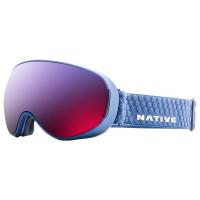 Native Eyewear Dropzone Goggles, Blue Denim/snowtuned Rose Blue