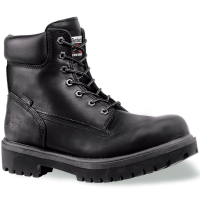Timberland Pro Men's Soft Toe Waterproof Work Boots, Smooth Black, Wide