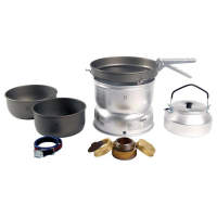 Trangia 25-8 Ultralight Hard Anodized Alcohol Stove Kit With Kettle And Windshields