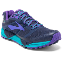 Brooks Women's Cascadia 12 Trail Running Shoes, Peacoat/passion Flower