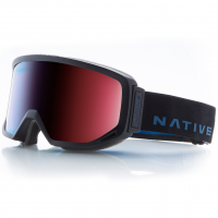 Native Eyewear Coldfront Goggles, Indigo, Blue Mirror Lens