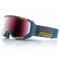 Native Eyewear Coldfront Goggles, Teal Roth, Silver Mirror Lens