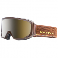 Native Eyewear Coldfront Goggles, Buckskin - Snowtuned Silver