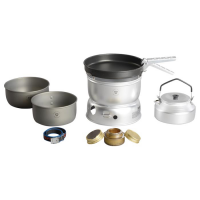 Trangia 25-0 Ultralight Hard Anodized Alcohol Stove Kit With Kettle And Windshield