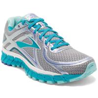 Brooks Women's Adrenaline Gts 16 Running Shoes, Wide, Silver/bluebird
