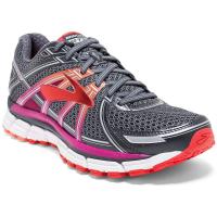 Brooks Women's Adrenaline Gts 17 Running Shoes, Wide, Anthracite/fuchsia
