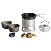Trangia 27-0 Ultralight Hard Anodized Alcohol Stove Kit With Kettle And Windshield