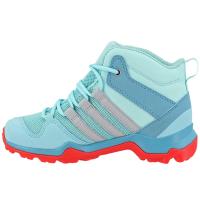 Adidas Kids Ax2R Mid Hiking Shoes, Clear Aqua/grey Two/easy Coral