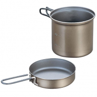 Evernew 0.9L Titanium Ns Deep Pot With Handle