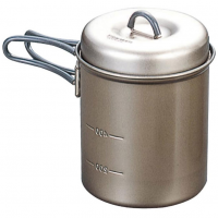 Evernew 0.6L Titanium Ns Deep Pot With Handle