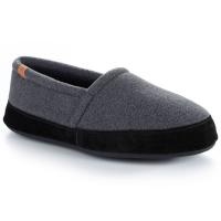 Acorn Men's Moc Slippers, Dark Charcoal - Size M/L