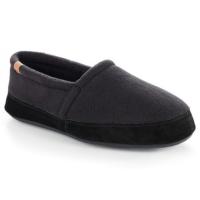 Acorn Men's Moc Shoes, Black - Size L