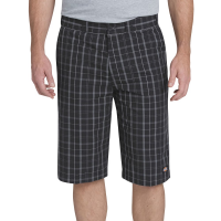 Dickies Men's 13 In. Regular Fit Multi-Use Pocket Plaid Shorts