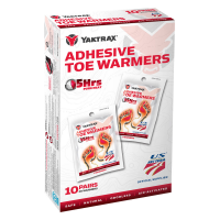 Yaktrax Adhesive Toe Warmers, 10-Pack