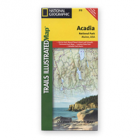 Nat Geo Acadia Nat'l Park Map, Maine