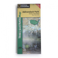 Nat Geo Adirondack Park Map, Saranac/paul Smiths