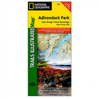 Nat Geo Adirondack Park Map, Lake George/great Sacandaga