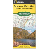 Nat Geo Delaware Water Gap Map