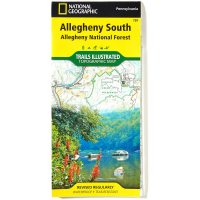 Nat Geo Alleghany National Forest Map, South