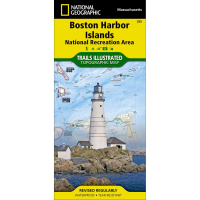 Nat Geo Boston Harbor Islands National Recreation Area Map