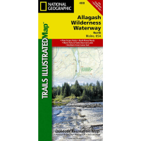 Nat Geo Allagash Wilderness Waterway North Trail Map