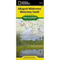 Nat Geo Allagash Wilderness Waterway South Trail Map
