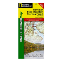Nat Geo Harriman Bear Mountain Sterling Forest Map