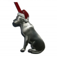 Creatively Yours Sitting Lab With Santa Ornament