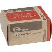 Q-Tubes 26 in. X 1.5-1.75 in. 32Mm Presta Valve Bicycle Tire Tubes