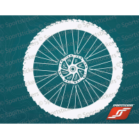 Sportstickers Mountain Bike Wheel, White