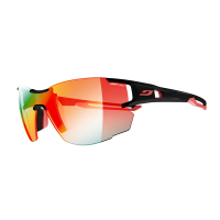 Julbo Aerolite Sunglasses With Zebra Light Fire, Black/red