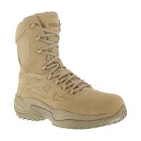 Reebok Work Men's Rapid Response 8Inch Rb Composite Toe Work Boots, Desert Tan, Wide
