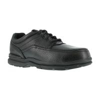 Rockport Works Men's World Tour Steel Toe 5 Eye Tie Casual Moc Toe Oxford Shoe