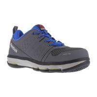 Reebok Work Men's Dmx Flex Work Alloy Toe Work Shoes, Grey/ Blue, Wide