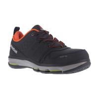 Reebok Work Men's Dmx Flex Alloy Toe Work Shoes, Black/ Orange, Wide