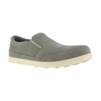 Florsheim Work Men's Stoss Steel Toe Oxford Work Shoes, Taupe/ Bone White, Wide