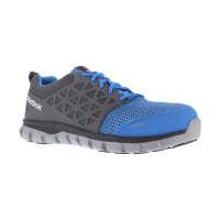 Reebok Work Men's Sublite Cushion Work Alloy Toe Work Shoes, Blue/ Grey