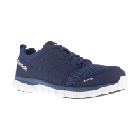 Reebok Work Men's Sublite Cushion Work Alloy Toe Work Shoes, Navy, Wide