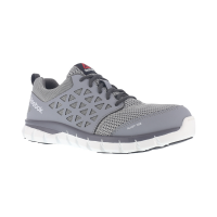 Reebok Work Men's Sublite Cushion Work Alloy Toe Work Shoes, Grey, Wide