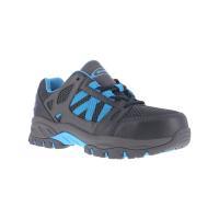 Knapp Women's Allowance Sport Work Shoes, Charcoal/ Blue, Wide