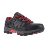 Knapp Men's Allowance Sport Steel Toe Work Shoes, Black/ Red, Wide