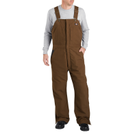 Dickies Men's Sanded Duck Insulated Bib Overall, Extended Sizes