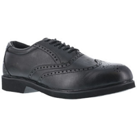 Rockport Works Men's Dressports Dress Leather Wing Tip Steel Toe Shoes, Black