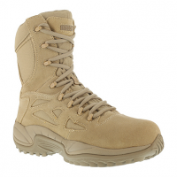 "Reebok Work Men's Rapid Response Rb Soft Toe Stealth 8"" W/ Side Zip Boot, Desert Tan"