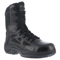 "Reebok Work Men's Rapid Response Rb Soft Toe Stealth 8"" W/ Side Zip Boot, Black"