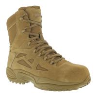 Reebok Work Men's Rapid Response 8Inch Rb Composite Toe Work Boots, Coyote, Wide