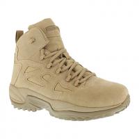 "Reebok Work Men's Rapid Response Rb Composite Toe Stealth 6"" W/ Side Zip Boot, Desert Tan"