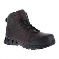 """Reebok Work Men's Zigkick Work Composite Toe Athletic 6"""" Boot, Brown"""