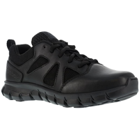 Reebok Work Men's Sublite Cushion Tactical Soft Toe Athletic Oxford Sneaker, Black